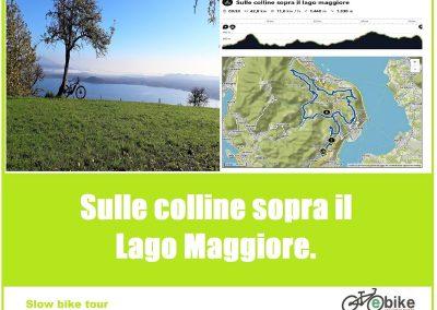 Sulle colline sopra il Lago Maggiore.